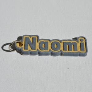 naomi single & dual color 3d printable keychain-badge-stamp
