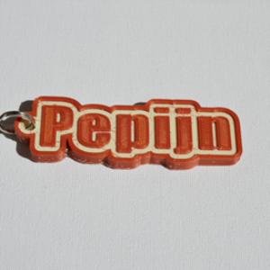 pepijn single & dual color 3d printable keychain-badge-stamp
