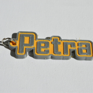 petra single & dual color 3d printable keychain-badge-stamp