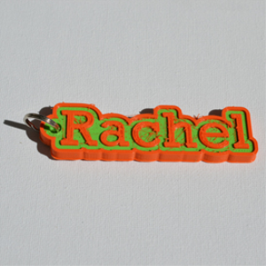 rachel single & dual color 3d printable keychain-badge-stamp