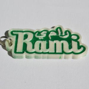 rami single & dual color 3d printable keychain-badge-stamp