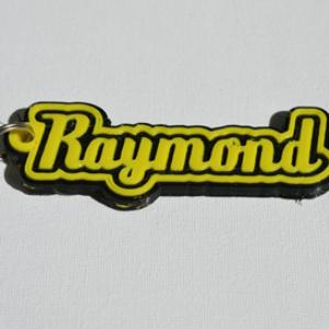 raymond single & dual color 3d printable keychain-badge-stamp