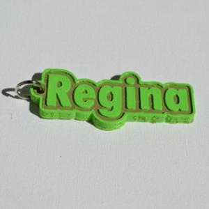 regina single & dual color 3d printable keychain-badge-stamp