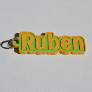 ruben single & dual color 3d printable keychain-badge-stamp