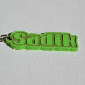 sadik single & dual color 3d printable keychain-badge-stamp