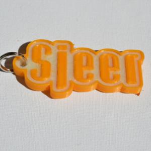 sjeer single & dual color 3d printable keychain-badge-stamp