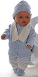 dollknittingpatterns 0163d lasse -veste, bonnet, combinaison, echarpe et chausson-(francais)