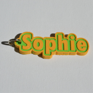 sophie single & dual color 3d printable keychain-badge-stamp
