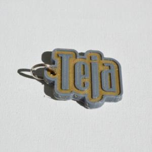 teja single & dual color 3d printable keychain-badge-stamp