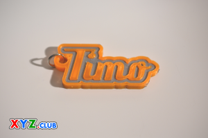 timo single & dual color 3d printable keychain-badge-stamp