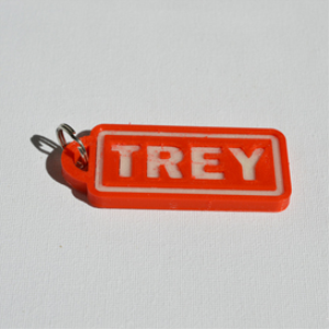 trey single & dual color 3d printable keychain-badge-stamp