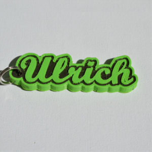 ulrich single & dual color 3d printable keychain-badge-stamp