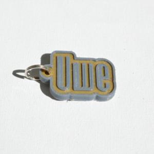 uwe single & dual color 3d printable keychain-badge-stamp