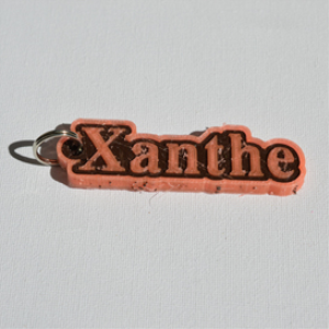 xanthe single & dual color 3d printable keychain-badge-stamp