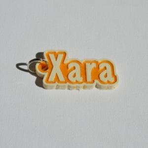 xara single & dual color 3d printable keychain-badge-stamp