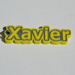 xavier single & dual color 3d printable keychain-badge-stamp