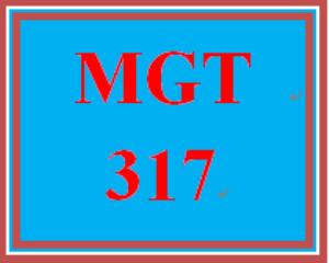 mgt 317 week 1 values & ethics