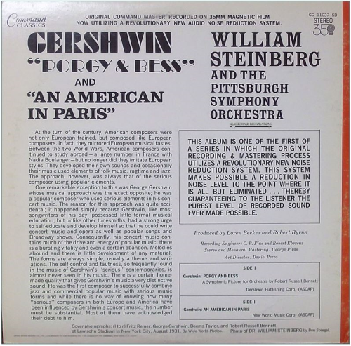 Second Additional product image for - Music of Gershwin - Pittsburgh Symphony Orchestra/William Steinberg