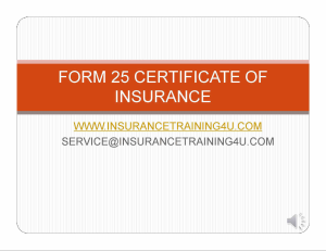 issuing certificates of insurance form 25