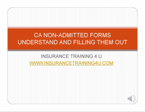 ca non admitted forms