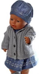 DollKnittingPatterns 0164D EVELYN - Kleid, Unterhose, Jacke, Mütze und Schuhe-(Deutsch) | Crafting | Knitting | Other