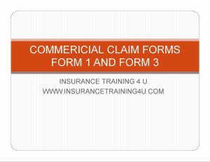 commercial claims forms