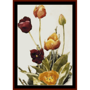 Tulips, 1933 - Demuth cross stitch pattern by Cross Stitch Collectibles | Crafting | Cross-Stitch | Wall Hangings
