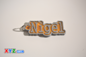 nigel single & dual color 3d printable keychain-badge-stamp
