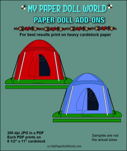 paper doll tents add on download