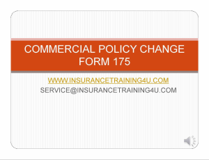 process commercial policy changes