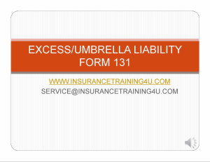 umbrella /excess policy form 131
