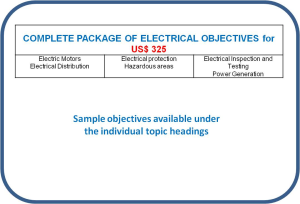 competence objectives - topic: complete electrical package