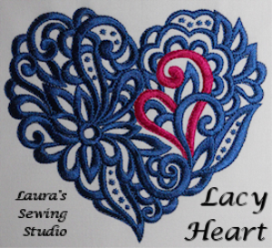 Laura's Lacy Hearts XXX | Crafting | Embroidery