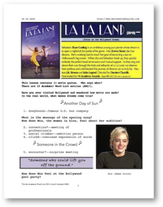 la la land, whole-movie english (esl) lesson
