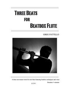 Three Beats for Beatbox Flute | Music | Classical