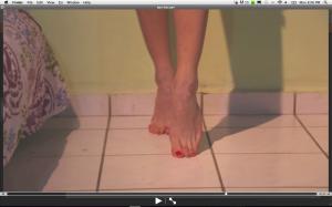 bare feet 2 min clip