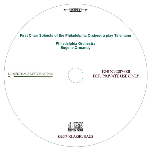 Second Additional product image for - First Chair Soloists of The Philadelphia Orchestra play Telemann