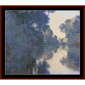 Morning on the Seine III, Monet cross stitch pattern by Cross Stitch Collectibles | Crafting | Cross-Stitch | Wall Hangings