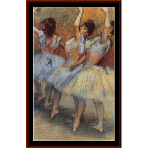 Three Dancers I - Degas cross stitch pattern by Cross Stitch Collectibles | Crafting | Cross-Stitch | Wall Hangings