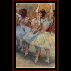 three dancers i - degas cross stitch pattern by cross stitch collectibles