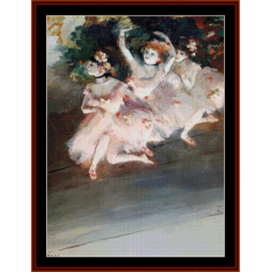 three ballet dancers, 1879 - degas cross stitch pattern by cross stitch collectibles