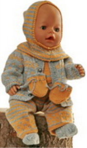 DollKnittingPatterns 0165D GABRIELA - Veste, Chapeau, Combinaison, Chaussettes, Moufles-(Francais) | Crafting | Knitting | Other