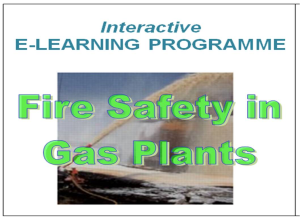 e-learning course  fire safety in gas plants