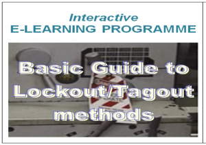 e-learning course lockout tagout