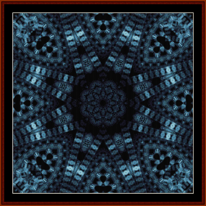 Fractal 604 cross stitch pattern by Cross Stitch Collectibles | Crafting | Cross-Stitch | Wall Hangings