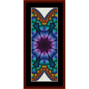 fractal 600 bookmark cross stitch pattern by cross stitch collectibles