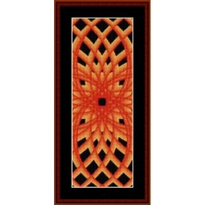 fractal 601 bookmark cross stitch pattern by cross stitch collectibles