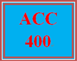 ACC 400 Week 1 Assignment from the Textbook | eBooks | Education