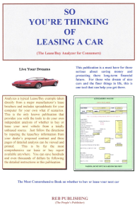 so you're thinking of leasing a car