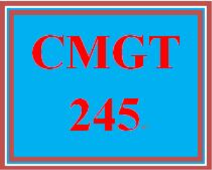 cmgt 245 week 5 individual: systems and application security